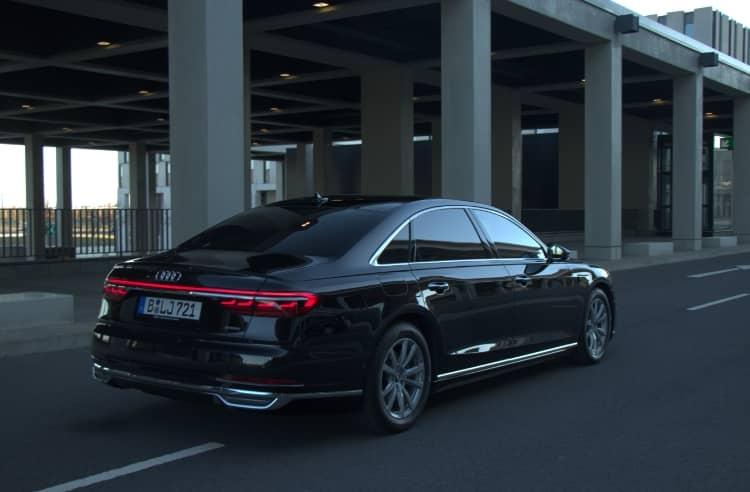 Hinteransicht Audi A8